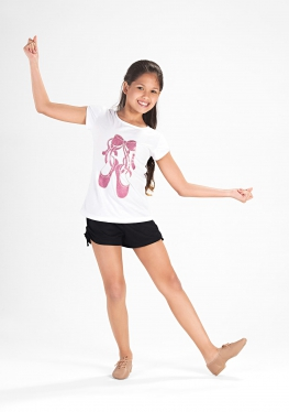 T-shirt- So Dança con stampa